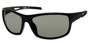 Harley-Davidson Men's Vented Temple Sunglasses, Shiny Black Frame/Green Lenses - Wisconsin Harley-Davidson