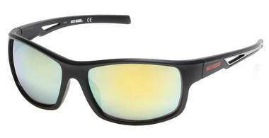 Harley-Davidson Men's Vented Temple Sunglasses, Matte Black Frame/ Mirror Lenses - Wisconsin Harley-Davidson