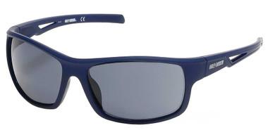 Harley-Davidson Men's Vented Temple Sunglasses, Matte Blue Frame/Smoke Lenses - Wisconsin Harley-Davidson