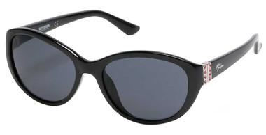 Harley-Davidson Women's Chic Bling Plastic Sunglasses, Black Frame/Smoke Lenses - Wisconsin Harley-Davidson