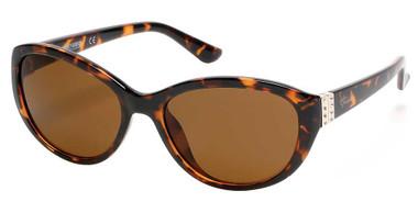 Harley-Davidson Women's Chic Bling Plastic Sunglasses, Havana Frame/Brown Lenses - Wisconsin Harley-Davidson