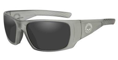 Harley-Davidson Men's Keys Sunglasses, Silver Flash Lenses & Matte Gray Frames - Wisconsin Harley-Davidson