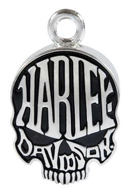 Harley-Davidson Calavera Skull Sculpted H-D Ride Bell - Shiny Silver Finish - Wisconsin Harley-Davidson