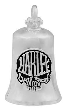 Harley-Davidson Calavera Skull Bar & Shield Ride Bell - Smooth Silver Finish - Wisconsin Harley-Davidson