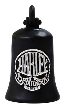 Harley-Davidson Calavera Skull Bar & Shield Ride Bell - Matte Black Finish - Wisconsin Harley-Davidson
