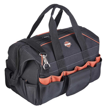 Harley-Davidson 39 Pocket Bar & Shield Logo Industrial Strength Tool Bag - Black - Wisconsin Harley-Davidson