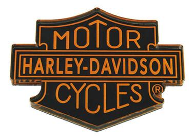 Harley-Davidson Cut-Out Motorcycles Trademark Hard Acrylic Magnet- 3 x 2.25 inch - Wisconsin Harley-Davidson