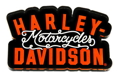 Harley-Davidson Cut-Out H-D Motorcycles Hard Acrylic Magnet - 3 x 2 inches - Wisconsin Harley-Davidson