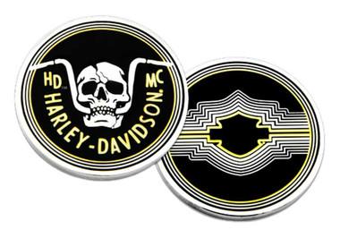 Harley-Davidson Retro Handlebar Skull Metal Challenge Coin, 1.75 in. - Black - Wisconsin Harley-Davidson