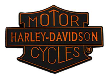 Harley-Davidson 1.5 in. Motorcycles Trademark Shield Metal Pin, Black Finish - Wisconsin Harley-Davidson
