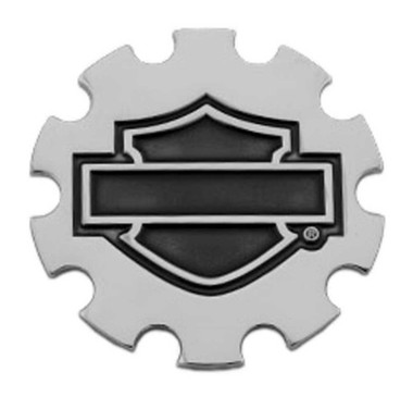 Harley-Davidson 1.5 inch. Sprocket Bar & Shield Metal Pin, Silver Nickel Finish - Wisconsin Harley-Davidson