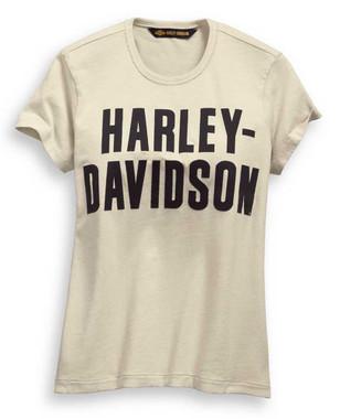 Harley-Davidson Women's Jersey Applique Short Sleeve Tee, White 99276-19VW - Wisconsin Harley-Davidson