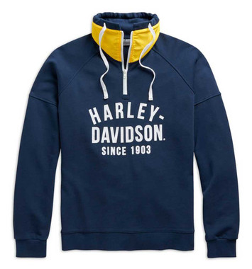 Harley-Davidson Men's Since 1903 Slim Fit 1/4-Zip Pullover Sweatshirt 98679-20VM - Wisconsin Harley-Davidson