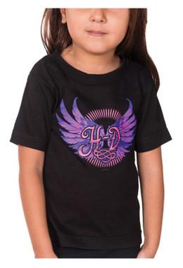 Harley-Davidson Girl's Wings Short Sleeve T-Shirt Toddler & Youth, Black - Wisconsin Harley-Davidson