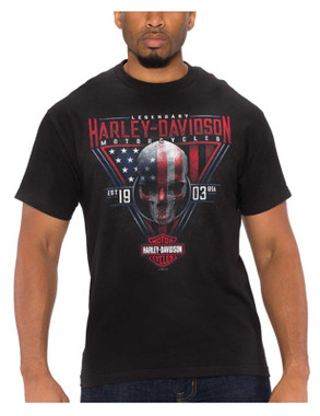 Harley-Davidson Men's Monumental Skull Short Sleeve Crew-Neck T-Shirt, Black - Wisconsin Harley-Davidson