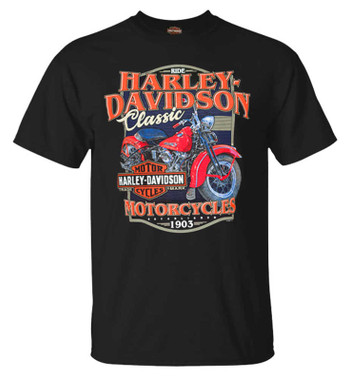 Harley-Davidson Men's So Classic Short Sleeve Crew-Neck Cotton T-Shirt, Black - Wisconsin Harley-Davidson