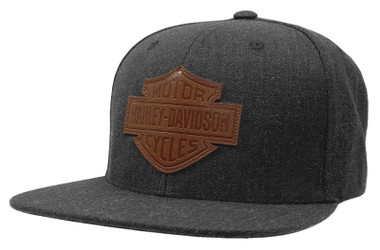Harley-Davidson Men's Bar & Shield Patch Snapback Baseball Cap - Heather Gray - Wisconsin Harley-Davidson