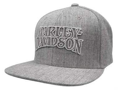Harley-Davidson Men's Ironhead Snapback Flat Brim Baseball Cap - Heather Gray - Wisconsin Harley-Davidson