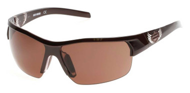 Harley-Davidson Women's Winged B&S Plastic Sunglasses, Brown Frame/Brown Lenses - Wisconsin Harley-Davidson