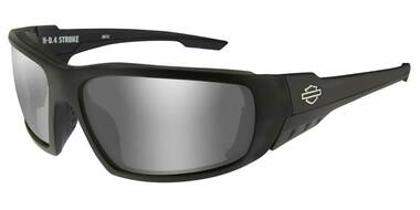 Harley-Davidson Mens 4 Stroke Sunglasses, Silver Flash Lenses/Matte Black Frames - Wisconsin Harley-Davidson