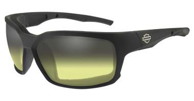 Harley-Davidson Men's COGS Sunglasses, Light Adjusting Yellow Lens/Black Frames - Wisconsin Harley-Davidson