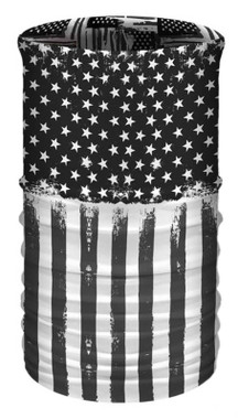 That's A Wrap Unisex American Flag Multi-Function Reversible Tube Face Cover - Wisconsin Harley-Davidson