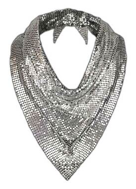 That's A Wrap Women's New Age Metallic Chainmail Metal Mesh Scarf - Silver - Wisconsin Harley-Davidson