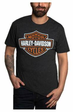 Harley-Davidson Men's B&S Vintage Poly-Blend Short Sleeve Crew T-Shirt - Black - Wisconsin Harley-Davidson