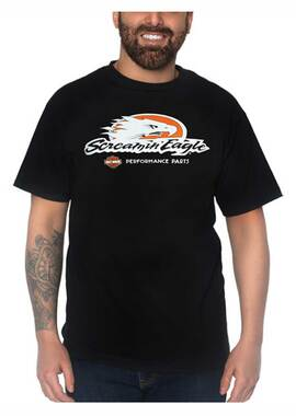 Harley-Davidson Men's Screamin' Eagle Short Sleeve Crew-Neck T-Shirt, Black - Wisconsin Harley-Davidson