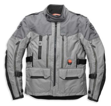 Harley-Davidson Men's Grit Adventure Functional Jacket, Gray 98179-21VM - Wisconsin Harley-Davidson