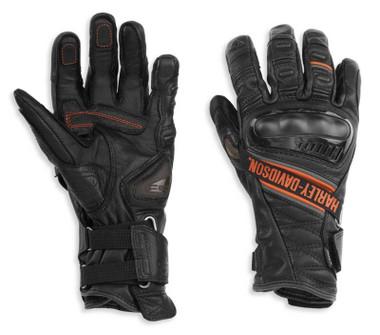 Harley-Davidson Women's Passage Adventure Gauntlet Gloves, Black 98188-21VW - Wisconsin Harley-Davidson
