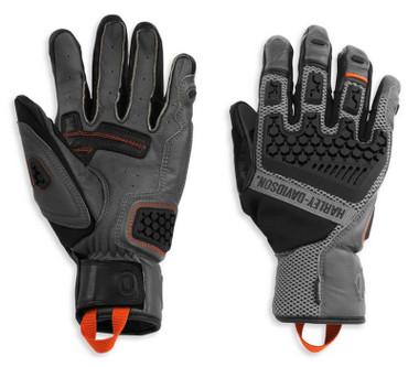 Harley-Davidson Women's Grit Adventure Full-Finger Gloves - Black 98189-21VW - Wisconsin Harley-Davidson