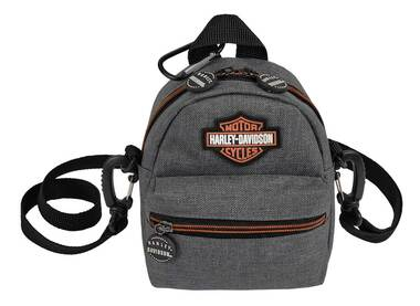 Harley-Davidson Bar & Shield Logo Mini-Me Small Backpack, Heather Gray - Wisconsin Harley-Davidson