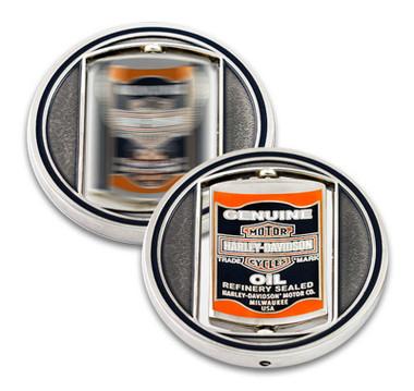 Harley-Davidson Genuine Oil Can & Eagle Spinner Metal Challenge Coin, 1.75 in. - Wisconsin Harley-Davidson