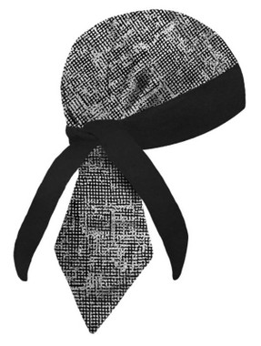 That's A Wrap Unisex Criss-Cross Print Stay Put Sweatband Headwrap -Black - Wisconsin Harley-Davidson