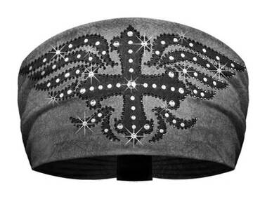 That's A Wrap Women's Midnight Cowboy Winged Cross Embellished Knotty Band- Gray - Wisconsin Harley-Davidson
