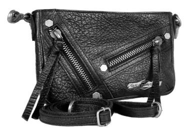 Harley-Davidson Women's H-D Medallion Zip-It Hip Bag w/ Detachable Strap - Black - Wisconsin Harley-Davidson