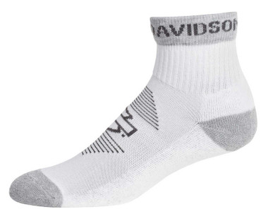 Harley-Davidson Women's Striped Wicking Performance Riding Socks, White/Gray - Wisconsin Harley-Davidson