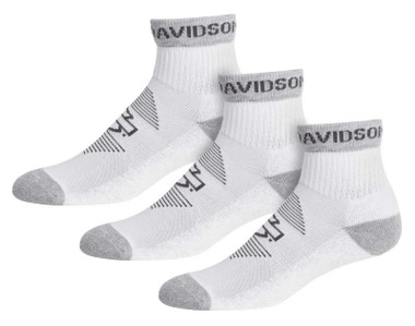 Harley-Davidson Women's Striped Wicking Performance Riding Socks, White 3 Pairs - Wisconsin Harley-Davidson