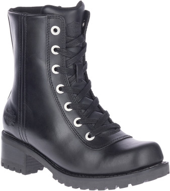 Harley-Davidson Women's Ashby 6-Inch Lace-Up Black Motorcycle Boots, D84715 - Wisconsin Harley-Davidson