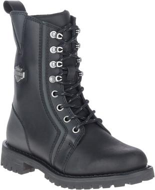 Harley-Davidson Women's Grimes 7-Inch Black Motorcycle Boots, D87204 - Wisconsin Harley-Davidson