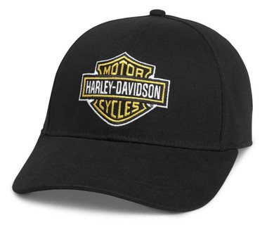 Harley-Davidson Men's Bar & Shield Adjustable Baseball Cap, Black 97684-21VM - Wisconsin Harley-Davidson
