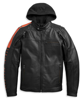 Harley-Davidson Men's HWY-100 3-IN-1 Midweight Leather Jacket 97013-21VM - Wisconsin Harley-Davidson
