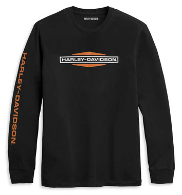 Harley-Davidson Men's Tank Graphic Long Sleeve Knit Shirt, Black 96335-21VM - Wisconsin Harley-Davidson
