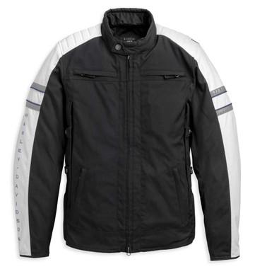 Harley-Davidson Men's MKE Mile Triple-Vent Waterproof Jacket, Black 97113-21VM - Wisconsin Harley-Davidson