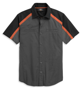 Harley-Davidson Men's Performance Colorblock Vertical Logo Shirt 96329-21VM - Wisconsin Harley-Davidson
