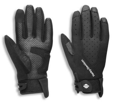 Harley-Davidson Women's Kilbourn Mixed Media Full-Finger Gloves 97121-21VW - Wisconsin Harley-Davidson