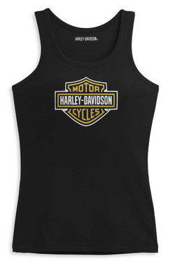 Harley-Davidson Women's Bar & Shield Logo Sleeveless Tank Top, Black 96391-21VW - Wisconsin Harley-Davidson