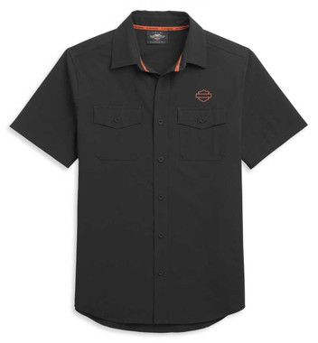 Harley-Davidson Men's Performance Moisture-Wicking Short Sleeve Shirt 96330-21VM - Wisconsin Harley-Davidson
