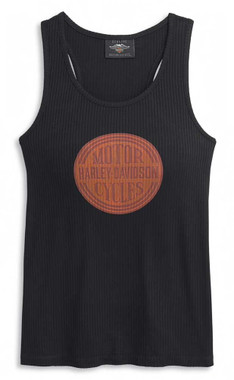 Harley-Davidson Women's Circle Graphic Sleeveless Tank Top, Black 96400-21VW - Wisconsin Harley-Davidson